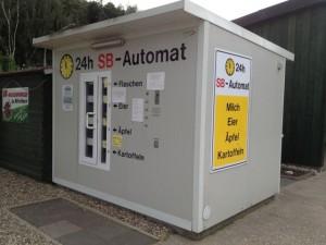 Der SB-Automat für Flaschen, Äpfel, Eier und Kartoffeln