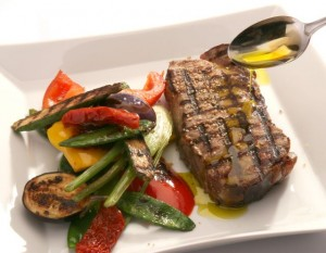 Gegrilltes Steak mit Barbecue Gemüse - Rezept der Ölmühle Solling