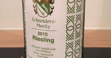 Tutti i sensi Tasted-Label für Schneiders-Moritz Riesling 2015 feinherb