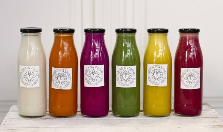 Smoothies von Greeny in a bottle