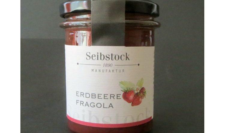 Erdbeer-Konfitüre von Seibstock aus dem Martelltal in Südtirol