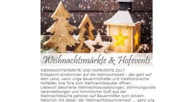 Weihnachtsstimmung auf Bauernhöfen