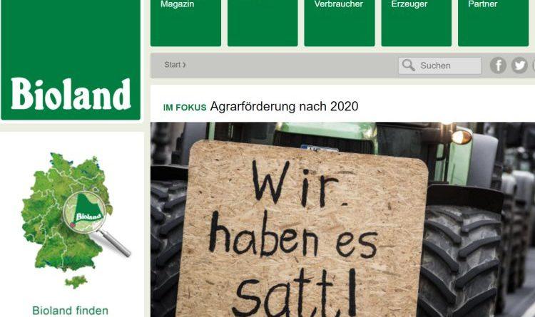 """Biofach 2018 –  """"Wir ackern für Artenvielfalt"""" – Neues Bioland-Gastronomiekonzept"""