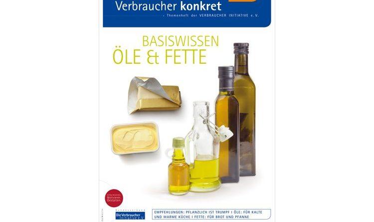"""Informationsbroschüre """"Basiswissen Öle und Feet"""" der Verbraucher Initiative."""