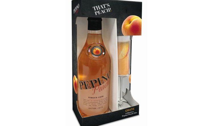 Sektglas im Doppelpack mit Pepino Peach