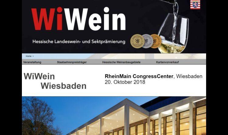 Die besten Weine Hessens auf der WiWein am 20.10.2018 im RheinMain CongressCentrum, Wiesbaden