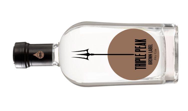 Neue Kreation von Piekfeine Brände – Gin Triple Peak Brown Label