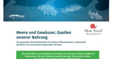 Slow Food Deutschland fordert von der EU verlässlich nachhaltig gefangenen Fisch