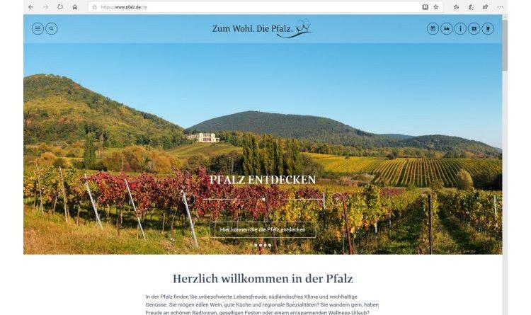 Die neuen Pfalzseiten sind online