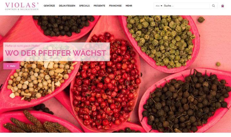 Gewürze, Delikatessen und Präsente online bei Violas einkaufen