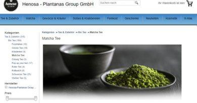 Tee und andere Delikatessen im Henosa-Webshop