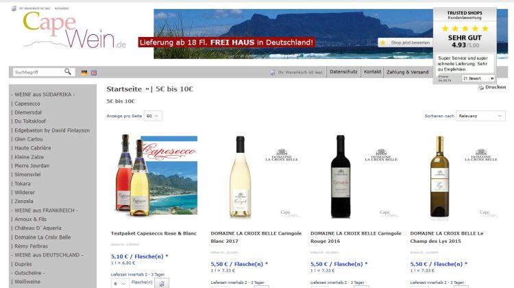 CapeWein.de – Wein aus Südafrika und Südfrankreich