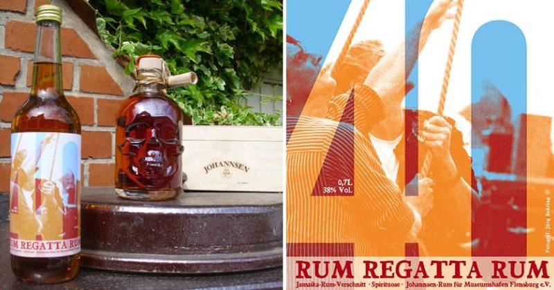 Johannsen Regatta Rum - Standard und in der Totenkopfflasche