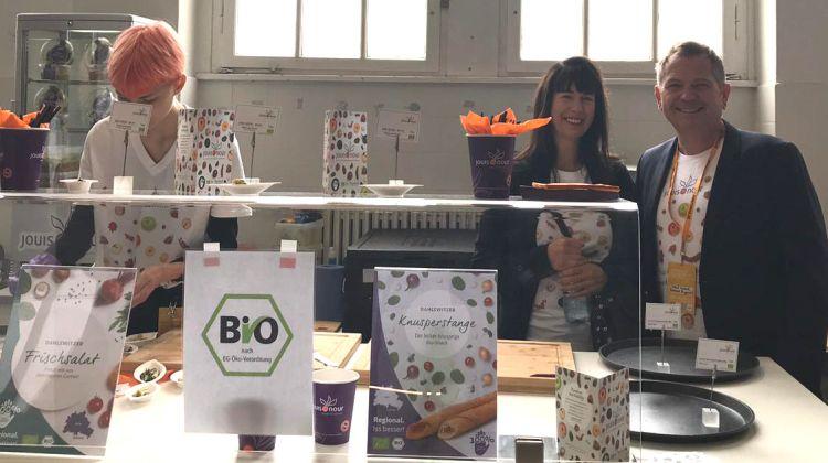 Grundprinzip Nachhaltigkeit: Jouis Nour präsentiert auf dem Berliner Greentech Festival Bio-Innovationen aus Brandenburg