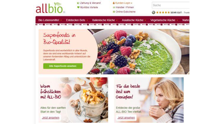 Superfood und Bio-Lebensmittel bei allbio