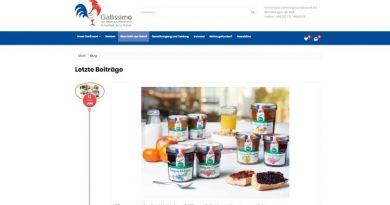 Der Onlineshop Gallissimo ist jedem Liebhaber von typisch französischen Produkten gewidmet. Screenshot - Tutti i sensi