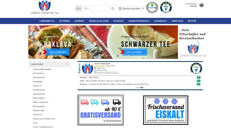 Orient Feinkost.de - Screenshot Tutti i sensi