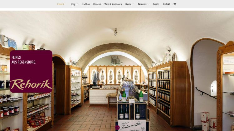Webshop von Rehorik in Regensburg - Screenshot Tutti i sensi
