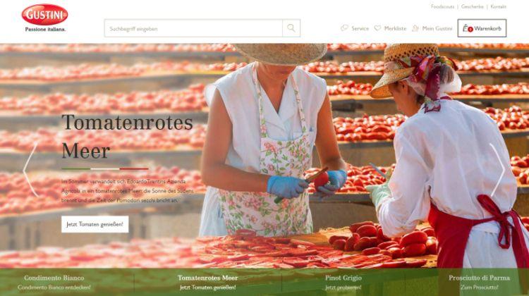 Gustini-Webshop - Screenshot: Tutti i sensi