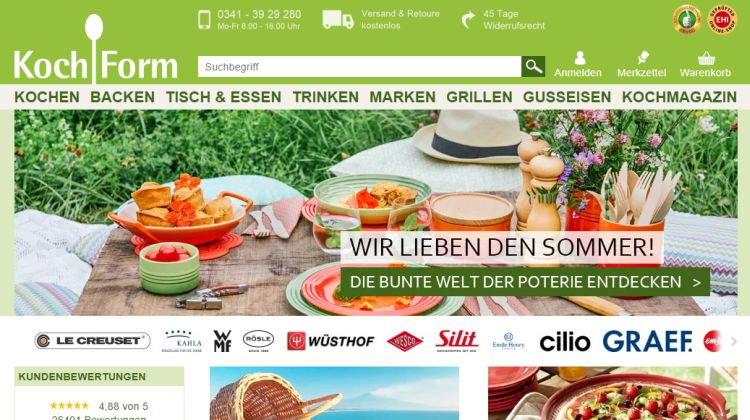 Kochform.de - Screenshot: Tutti i sensi