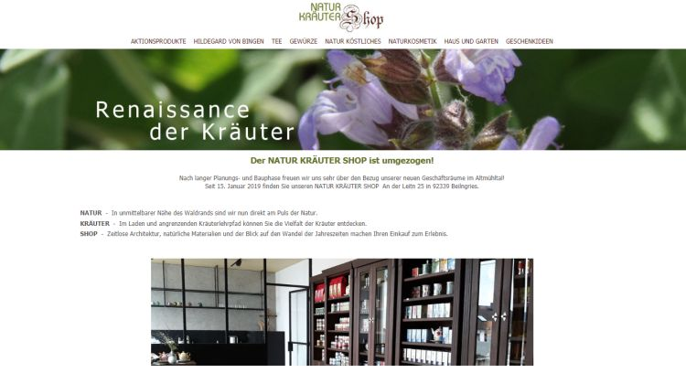 Natur Kräuter Shop - Screenshot: Tutti i sensi