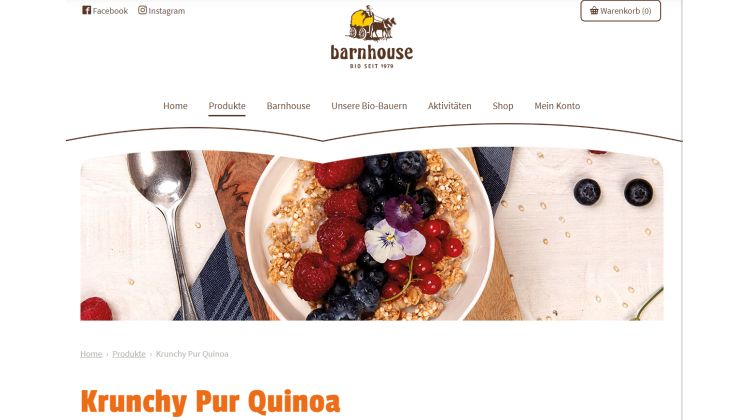 Pur Quinoa Crunchy von Barnhouse