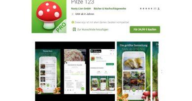 Pilze 123 - App - Screenshot Tutti i sensi