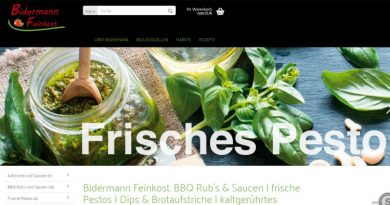 Bidermann Feinkost - Screenshot Tutti i sensi