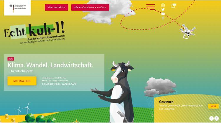 """Klima. Wandel. Landwirtschaft. – Du entscheidest! - Start des Schulwettbewerbs """"Echt kuh-l!"""""""