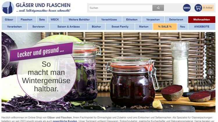 Selbstgemachtes in schöner Hülle – Gläser und Flaschen bei www.glaeserundflaschen.de