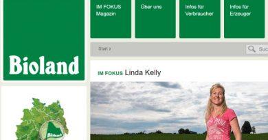 Bioland Webseite - Screenshot: Tutti i Sensi