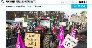 Wir haben es satt Demo Januar 2020 in Berlin - Screenshot Tutti i sensi