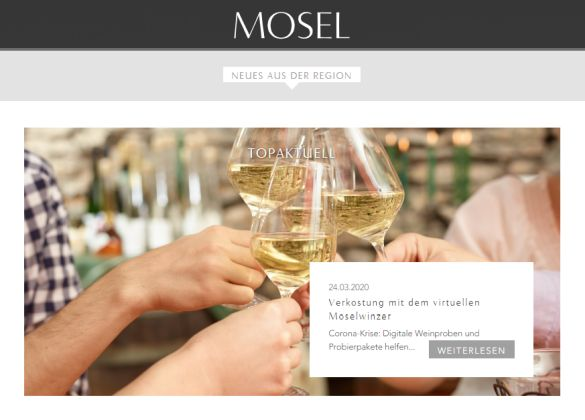 Innovative Verkostungs-Möglichkeiten durch Online-Präsentationen von Moselweinen in Corona-Zeiten - Screenshot: Tutti i sensi
