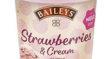 Typischer Baileys-Likörgeschmack im Strawberries & Cream-Eis