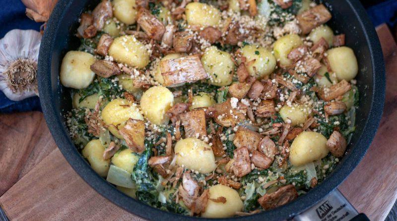 Who's Jack - Jackfrucht-Spinat-Pfanne mit Gnocchi