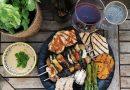 Vegetarische Grillplatte mit Frühburgunder - Foto: Deutsches Weininstitut