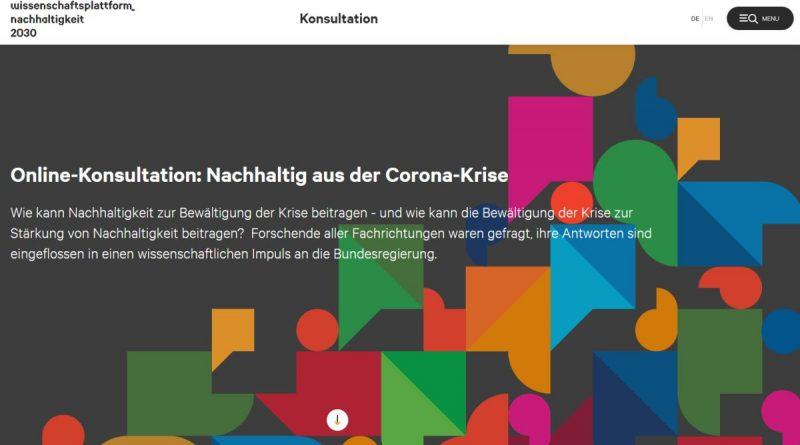 Wissenschaftsplattform Nachhaltigkeit 2030 – Corona-Krise als Signal für die Zukunft begreifen - Screenshot Tutti i sensi