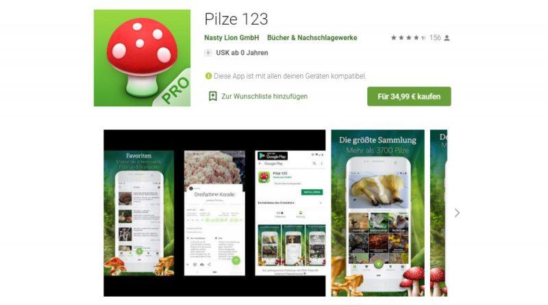Die neue Pilze 123 App von Wolfgang Bachmeier bietet eine Echtzeit-Bilderkennung zur Pilzbestimmung.