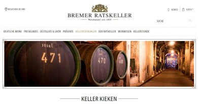 Bremer Ratskeller -Screenshot Tuttiisensi