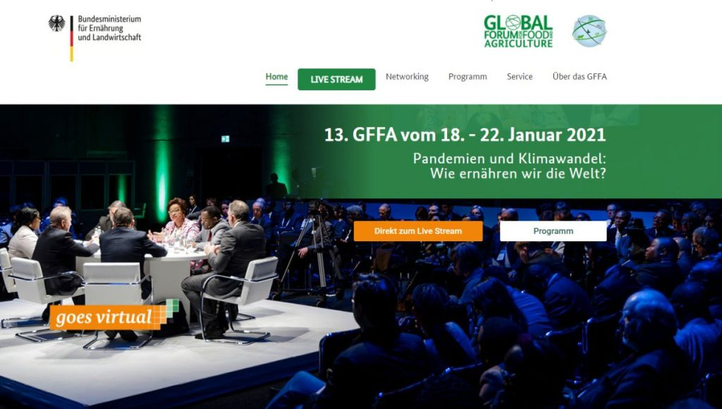 Global Forum for Food and Agriculture (GFFA) - Screenshot: Tuttiisensi