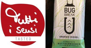 Tutti i sensi Verkostung - Bug Break Energieriegel mit gerösteten Buffalowürmern - Foto: Tutti i sensi