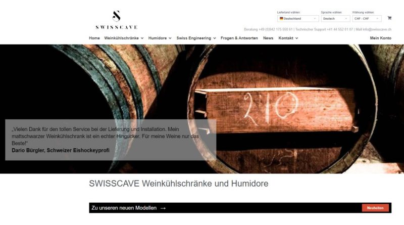 Swisscave - Screenshot Tutti i sensi