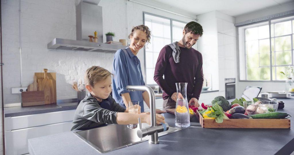Die Brita 3-Wege Küchenarmatur hat den Green Product Award bekommen.