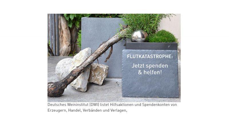 Spendenaktion für durch die Flut betroffenen Ahr-Weingüter - Screenshot: Tutti i sensi