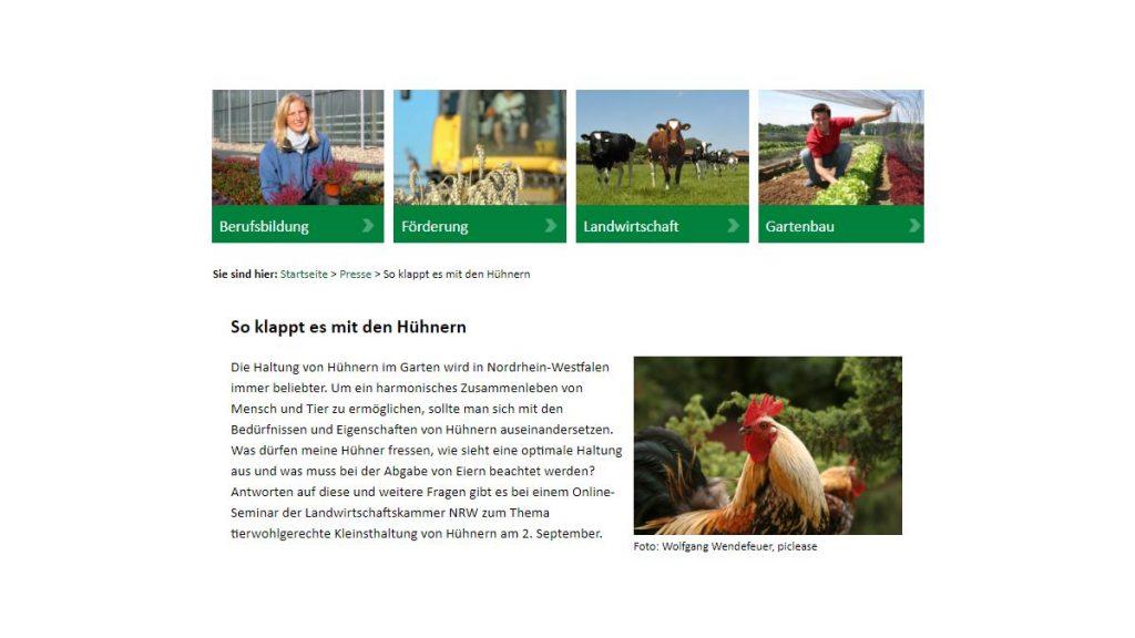 Online-Seminar zur Hühnerhaltung_der Landwirtschaftskammer NRW