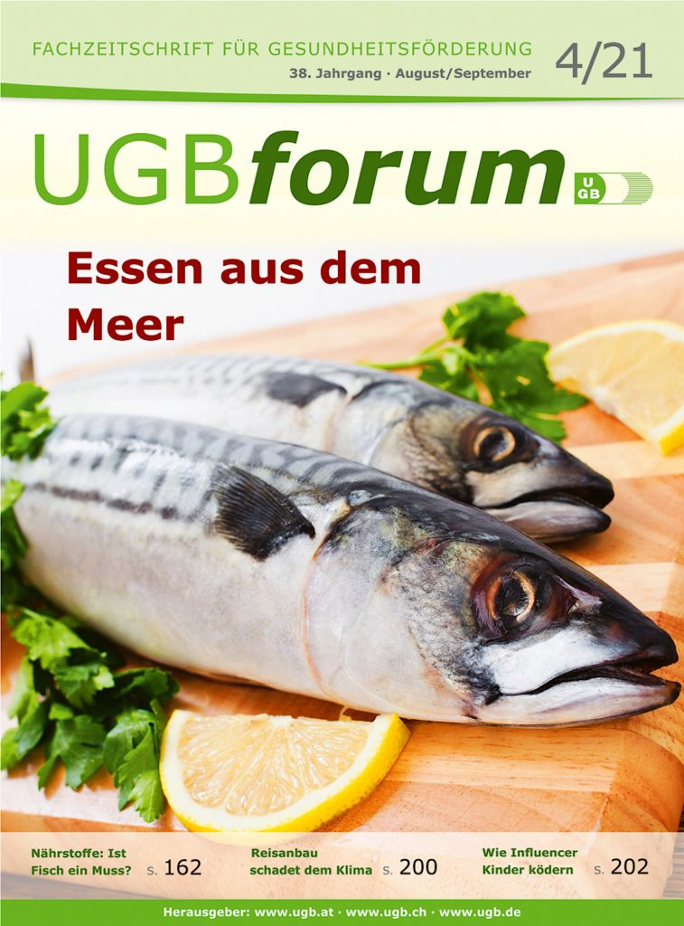 """UGBforum """"Essen aus dem Meeer"""""""
